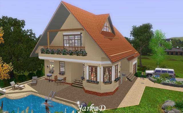 Rodinn d m 23 family house jarkad sims3 blog for Sims 3 family home ideas