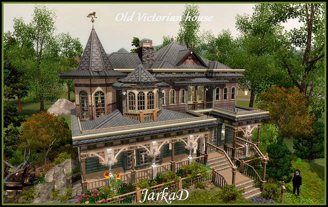 Star viktori nsk d m old victorian house jarkad for Classic house sims 3