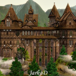 Vampire castle in the mountains