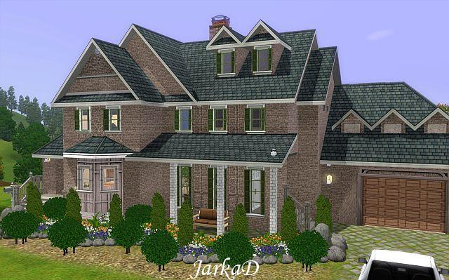 Rodinn d m 31 family house jarkad sims3 blog for Sims 3 6 bedroom house
