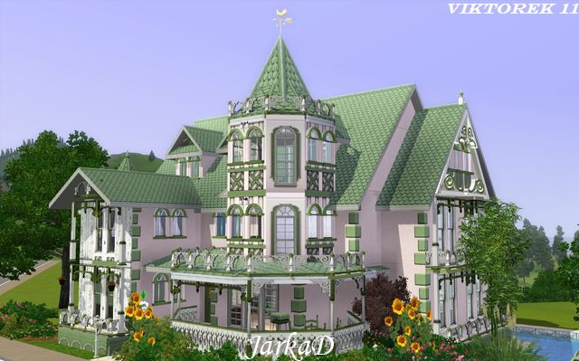 Victorian house xi jarkad sims3 blog for How to build a victorian house