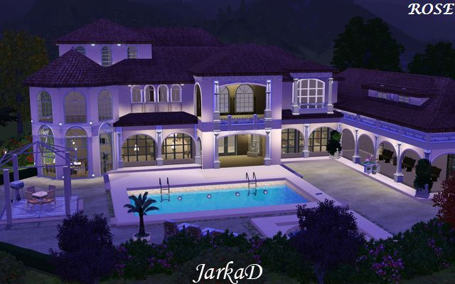 Villa rose jarkad sims3 blog - The sims 3 case moderne ...